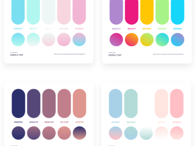 40 Elegant Color Palettes With Their Gradient