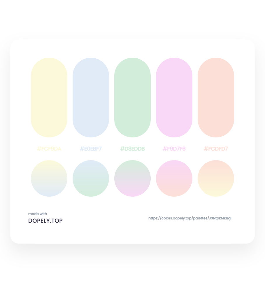 Elegant Color Palette With Their Gradient for logo deisgn - ِDopely Inspiration