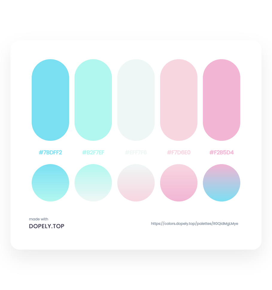 Elegant Color Palette With Their Gradient - ِDopely Inspiration