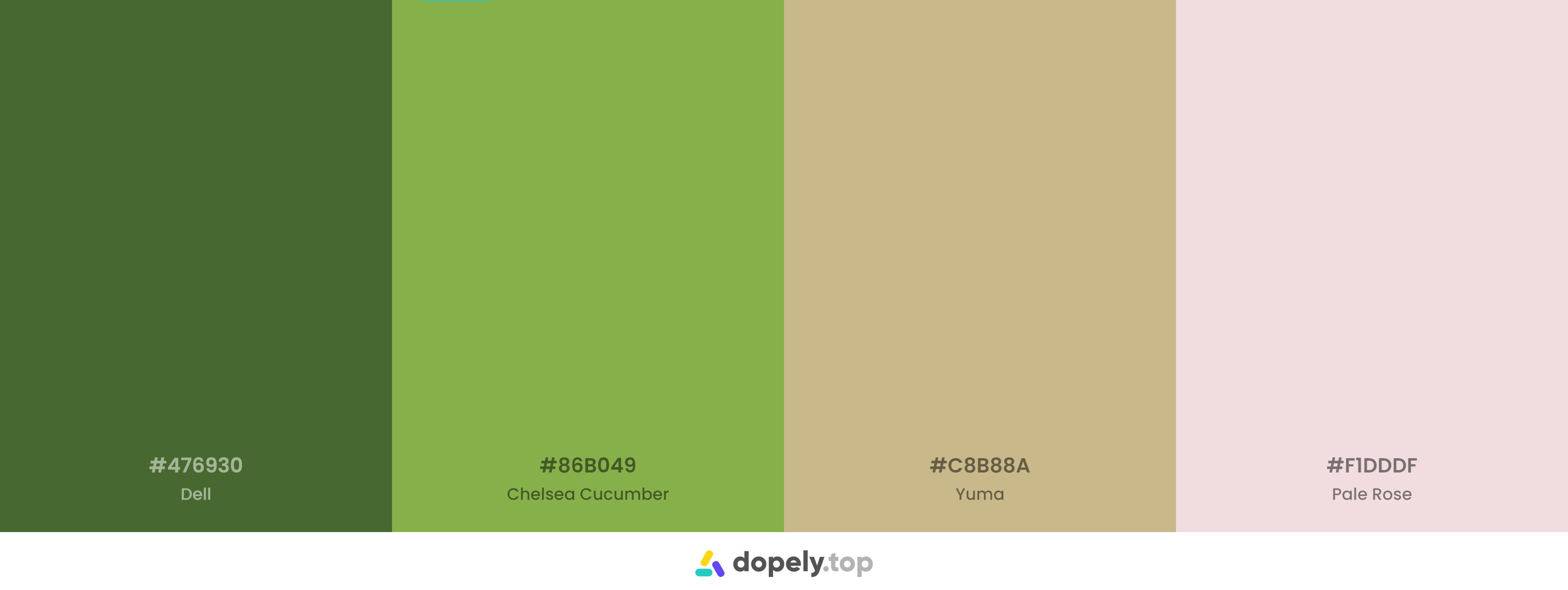 A green color palette representing fresh feelin