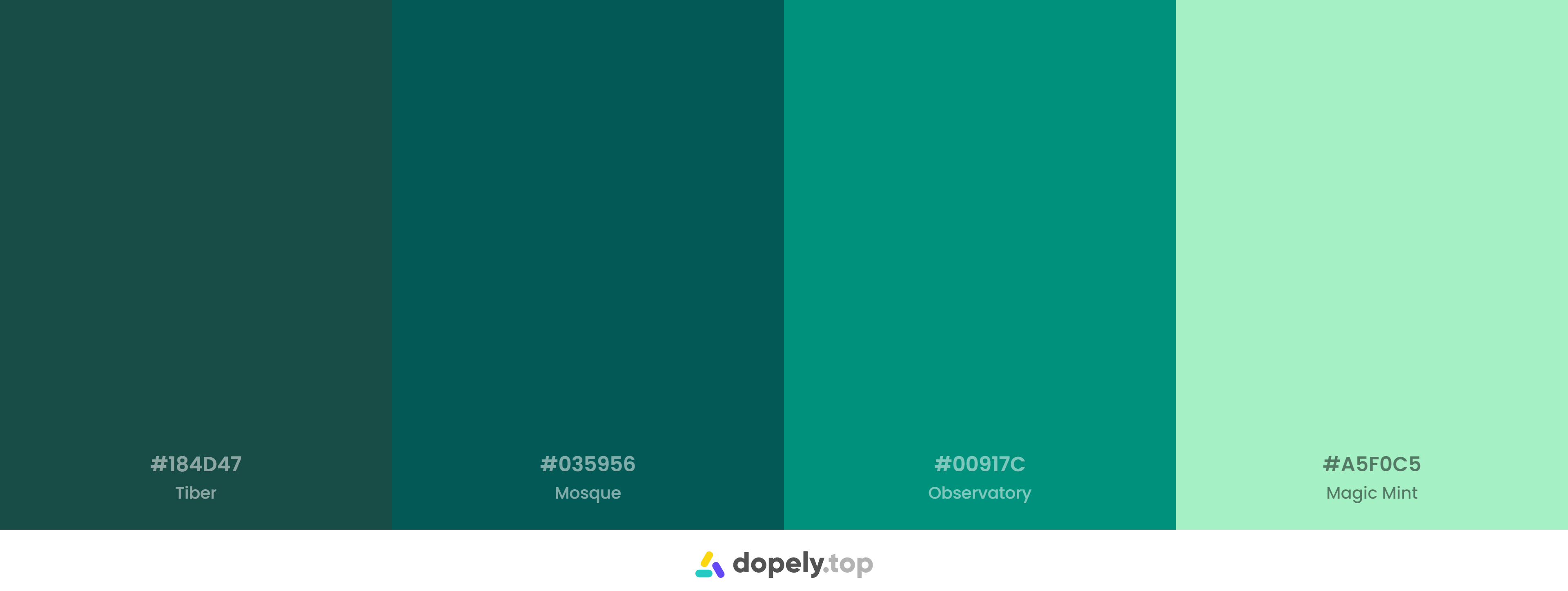 A green color example for dark mode