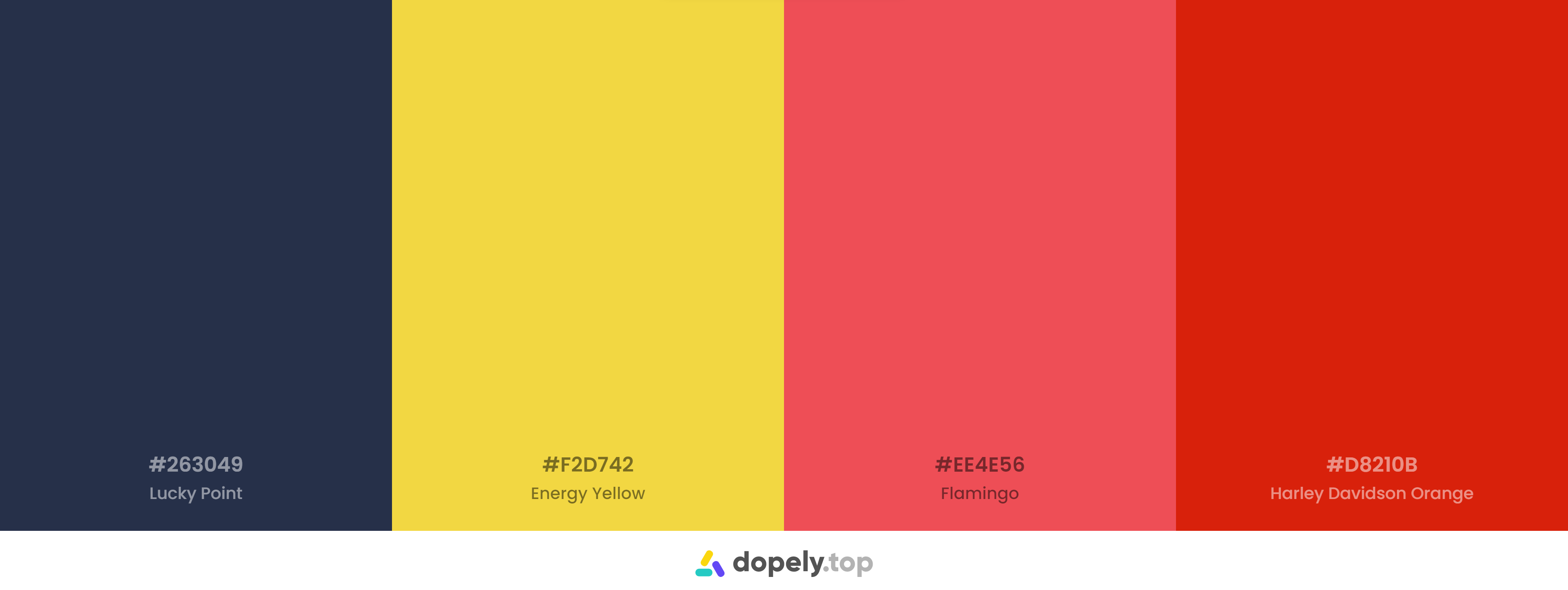 Blue and yellow and Red Color Palette Inspirations with Names & hex Codes
