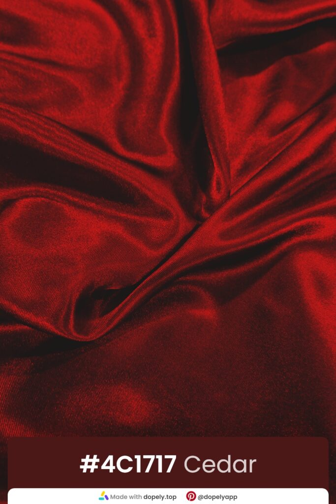 cedar red from textile photo by dopely.top