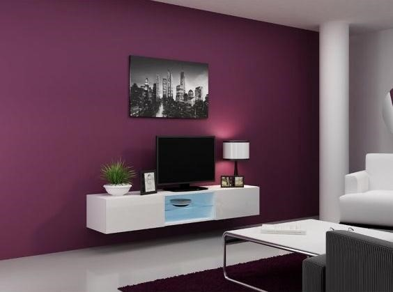 purple wall for the living room