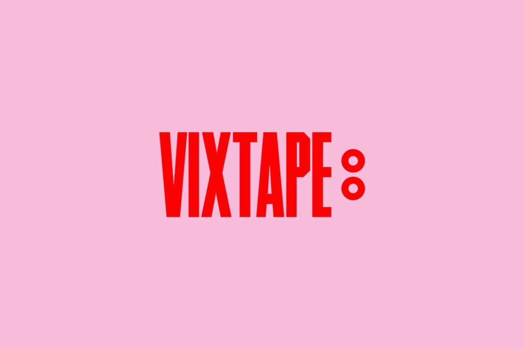 Red and pink in vixtape logo
