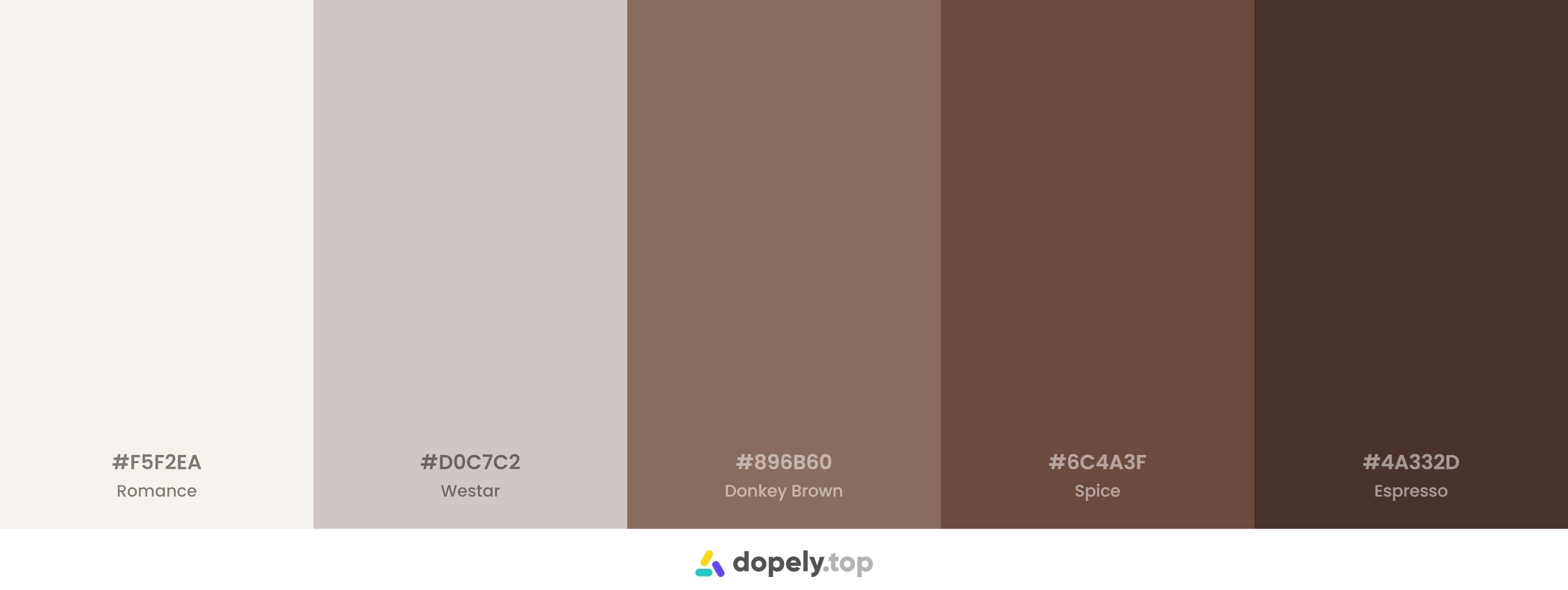 A simple minimal brown color palette