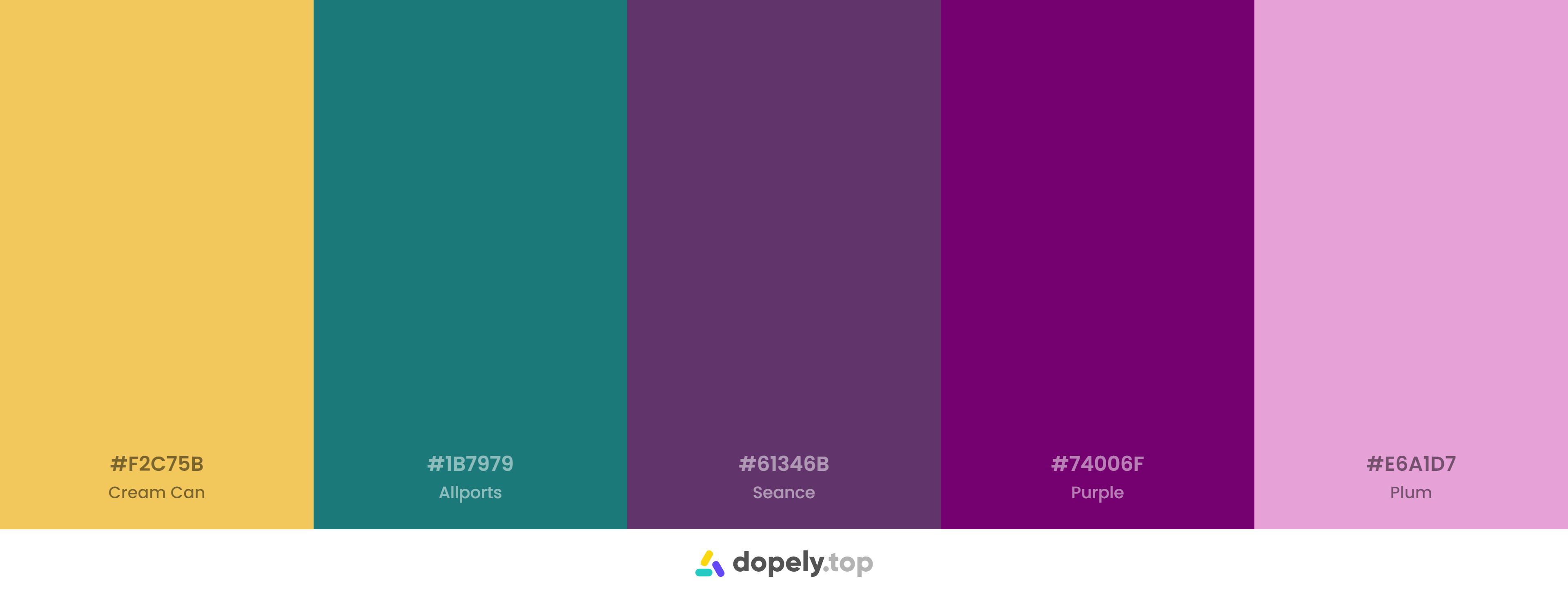 A wealthy palette with purple, green, and yellow