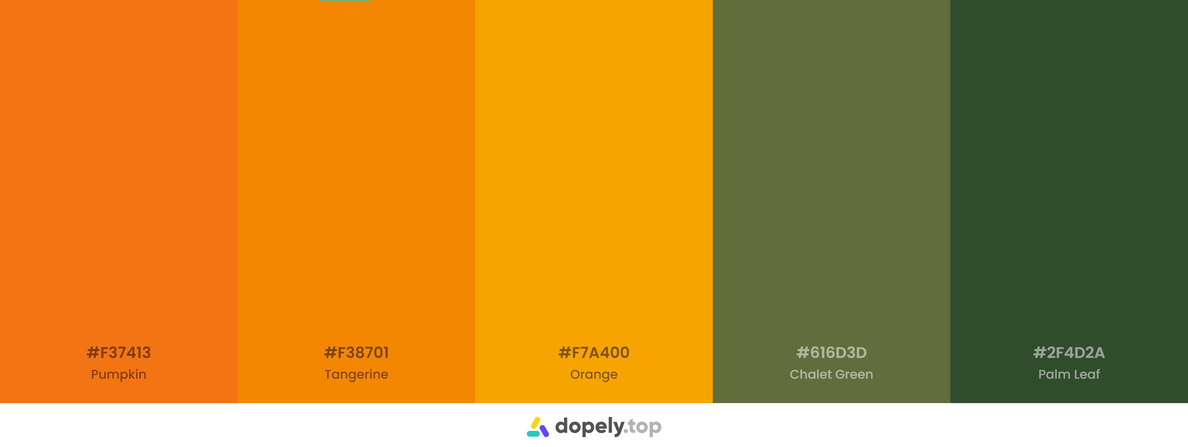 pumpkin, orange, tangerine in a color scheme