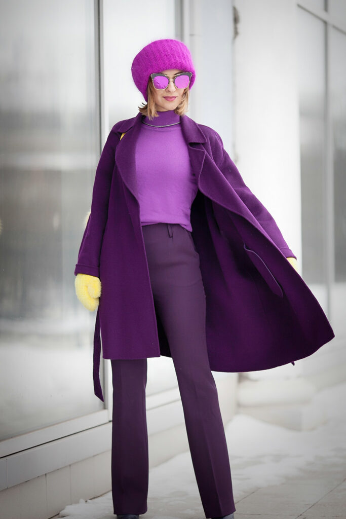 a girl with monochrome style of ultra violet
