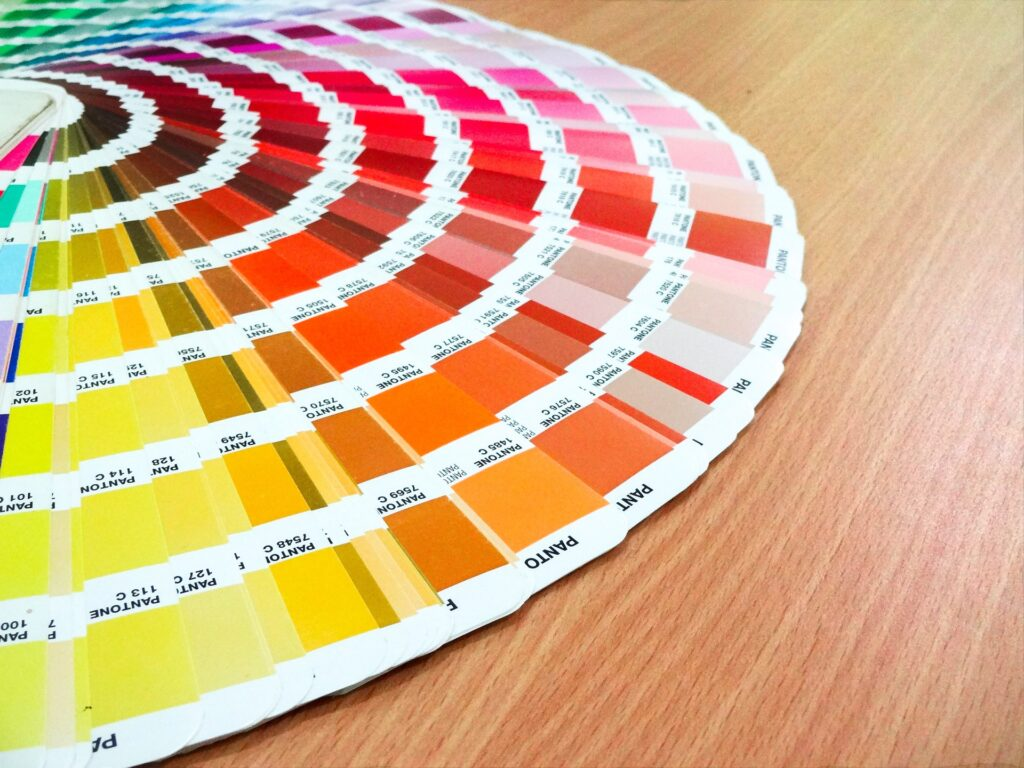 card containing pantone year colors
