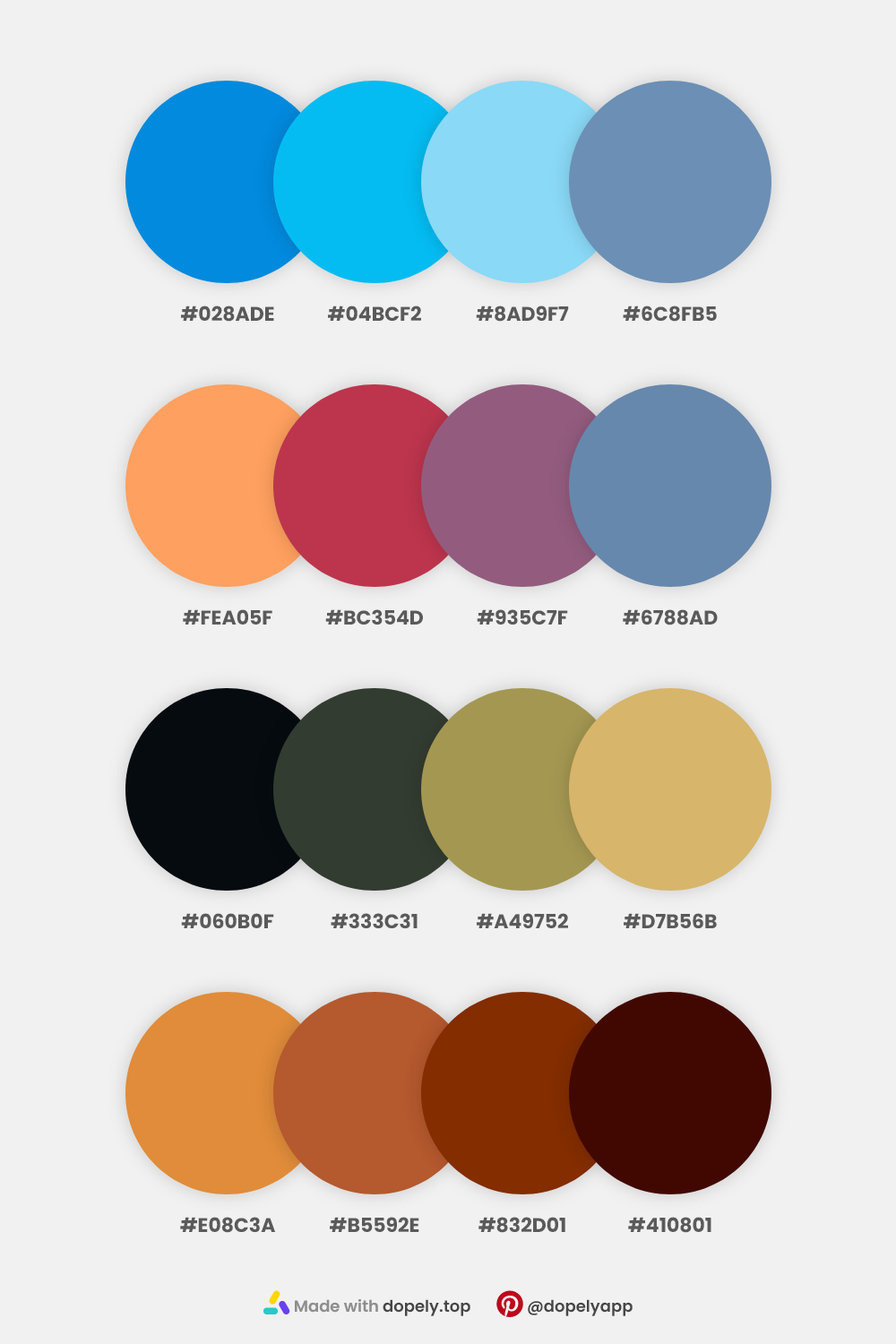Natural Color Palettes by Dopely