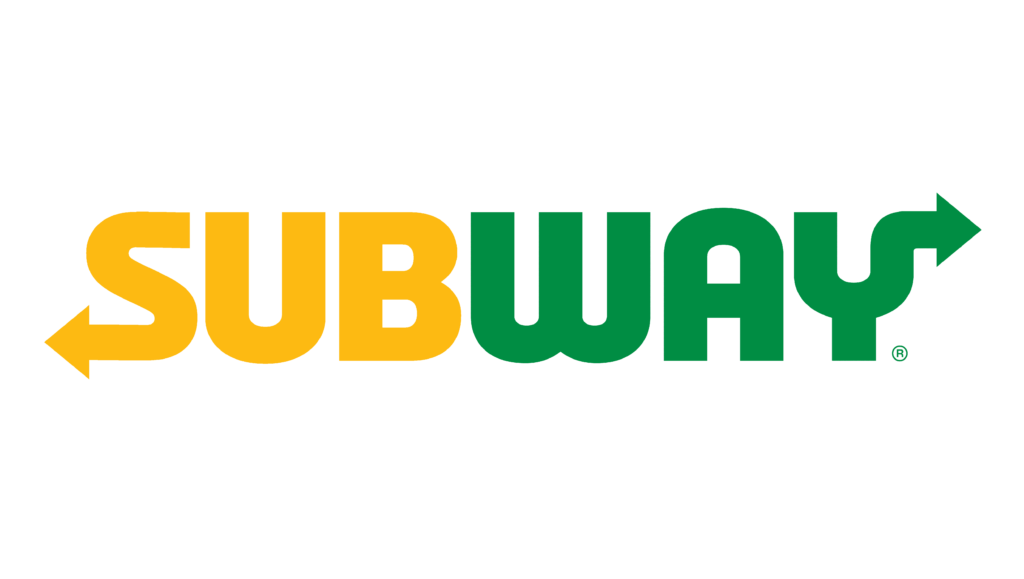 Yellow and Green in Subway logo