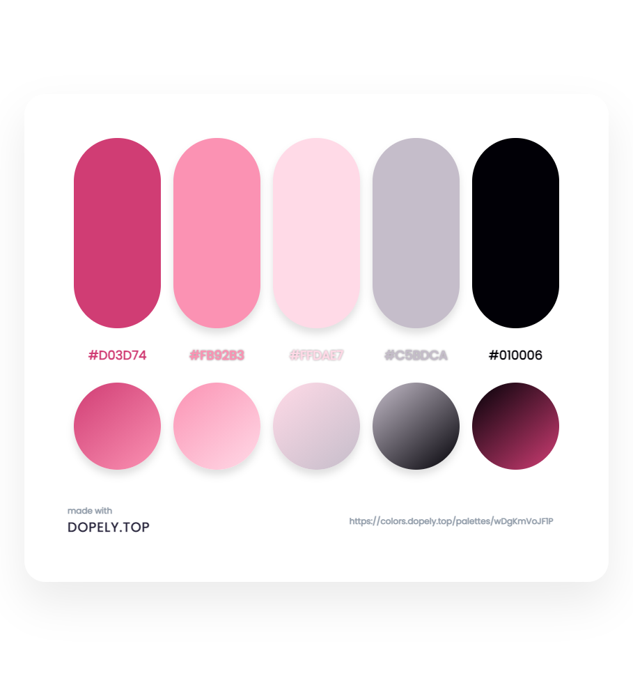 Sugary color palette