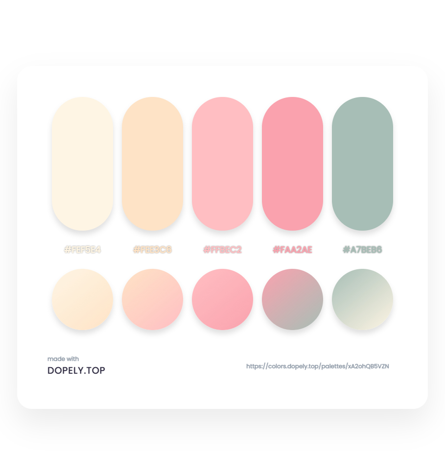 Sweet sugary color palette