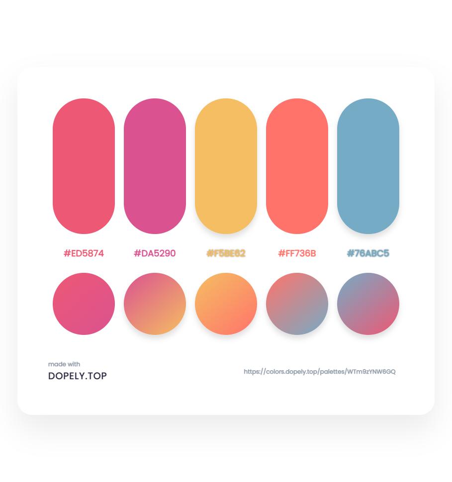 Sugary color gradient