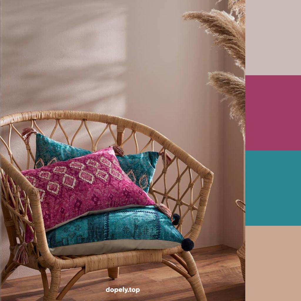 nude colors in BOHO design