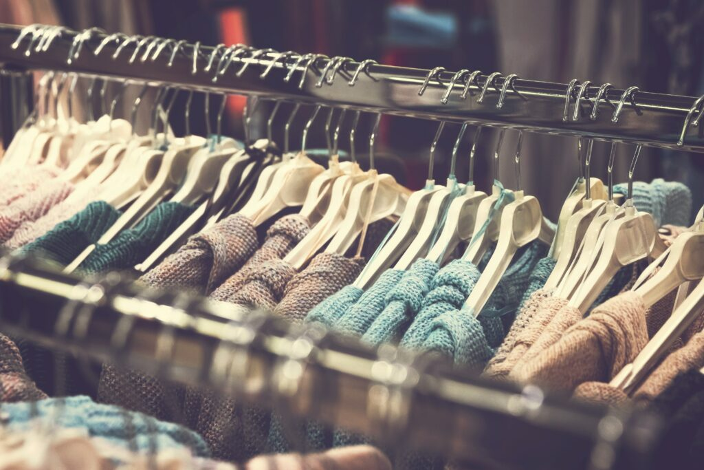 multi colored clothes