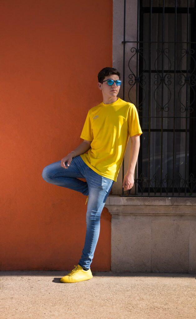 boy in yellow t shirt