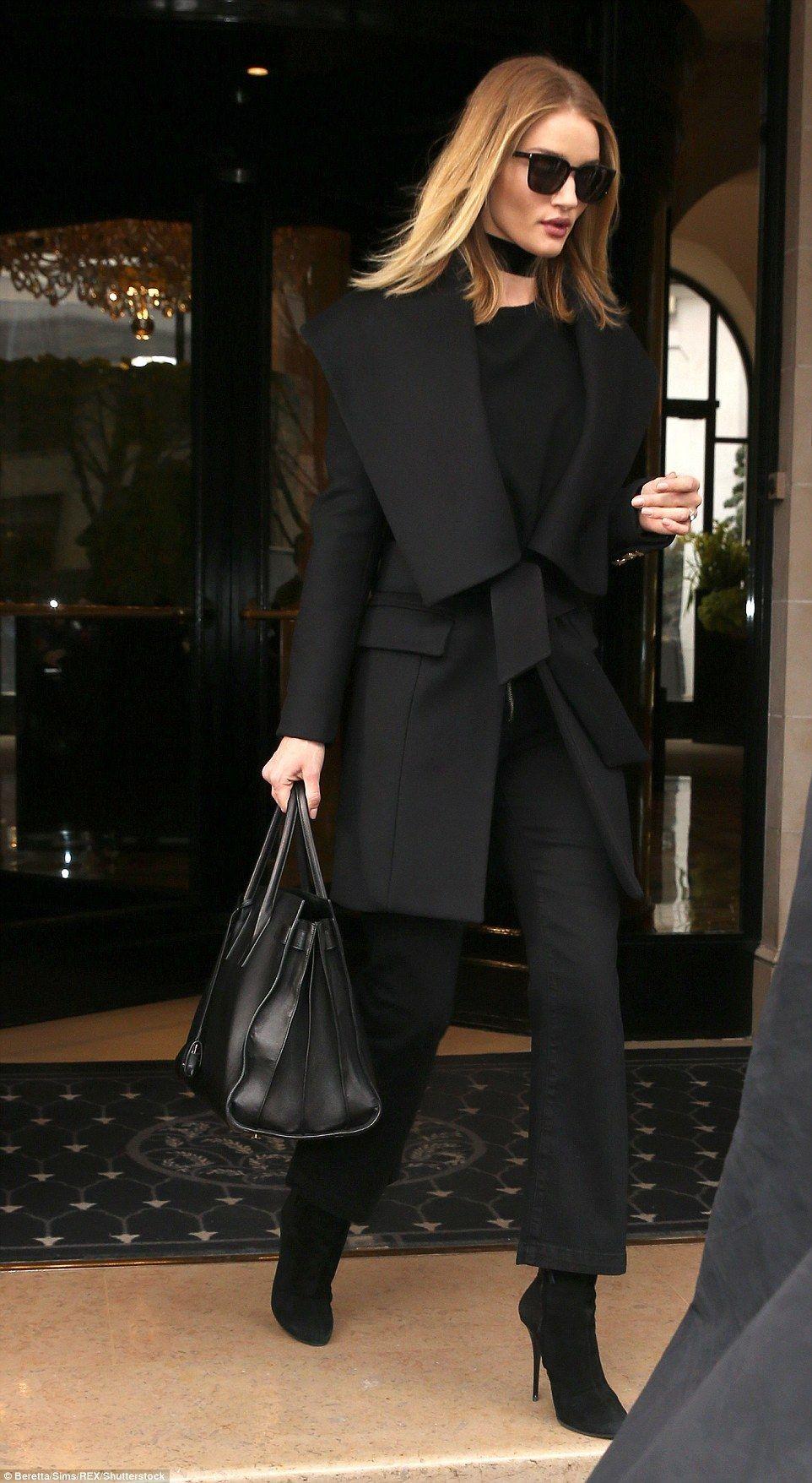 black monochrome outfit