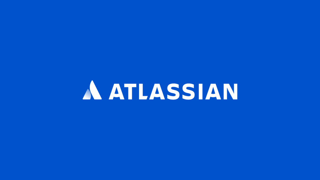 Blue and white in atlasian logo