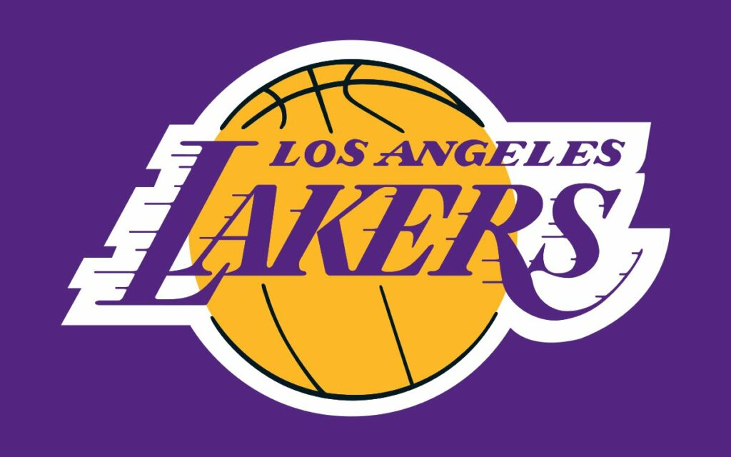 Yellow and purple in losangeles lakers logo