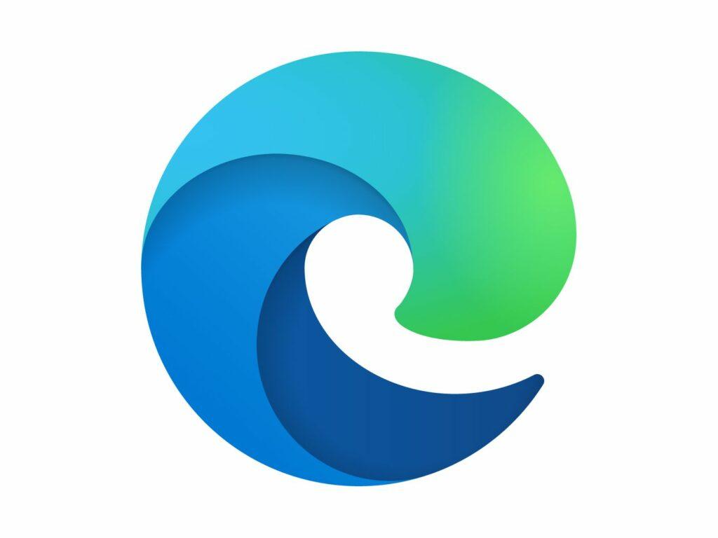 green and blue in Microsoft edge logo