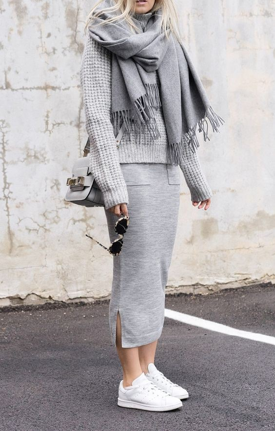 gray monochrome outfit