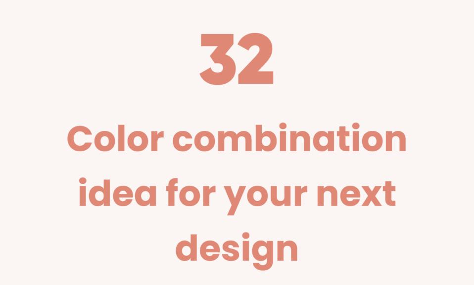 32 color combination ideas