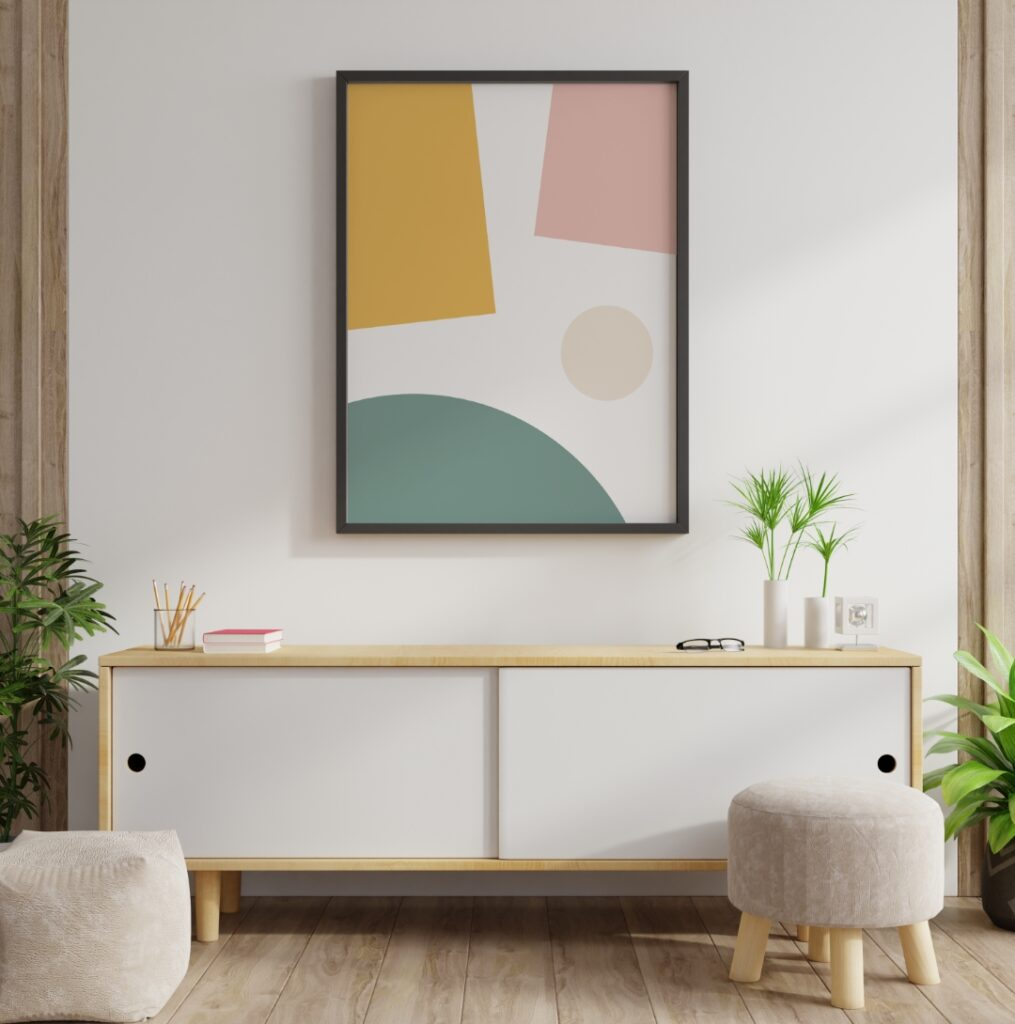 shapeless shapes poster in abstract art