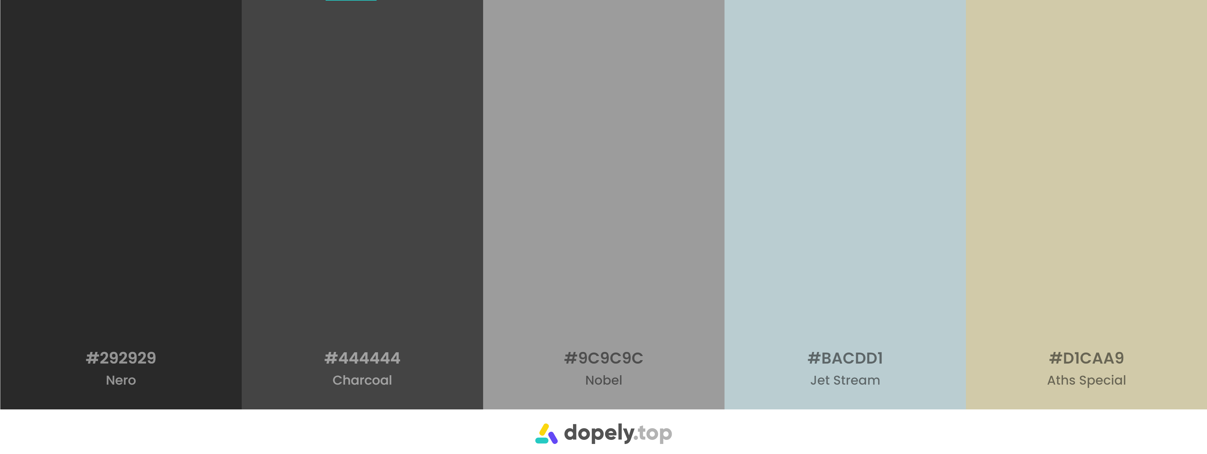 Black Pastel Color Palette Inspirations with Names & hex Codes