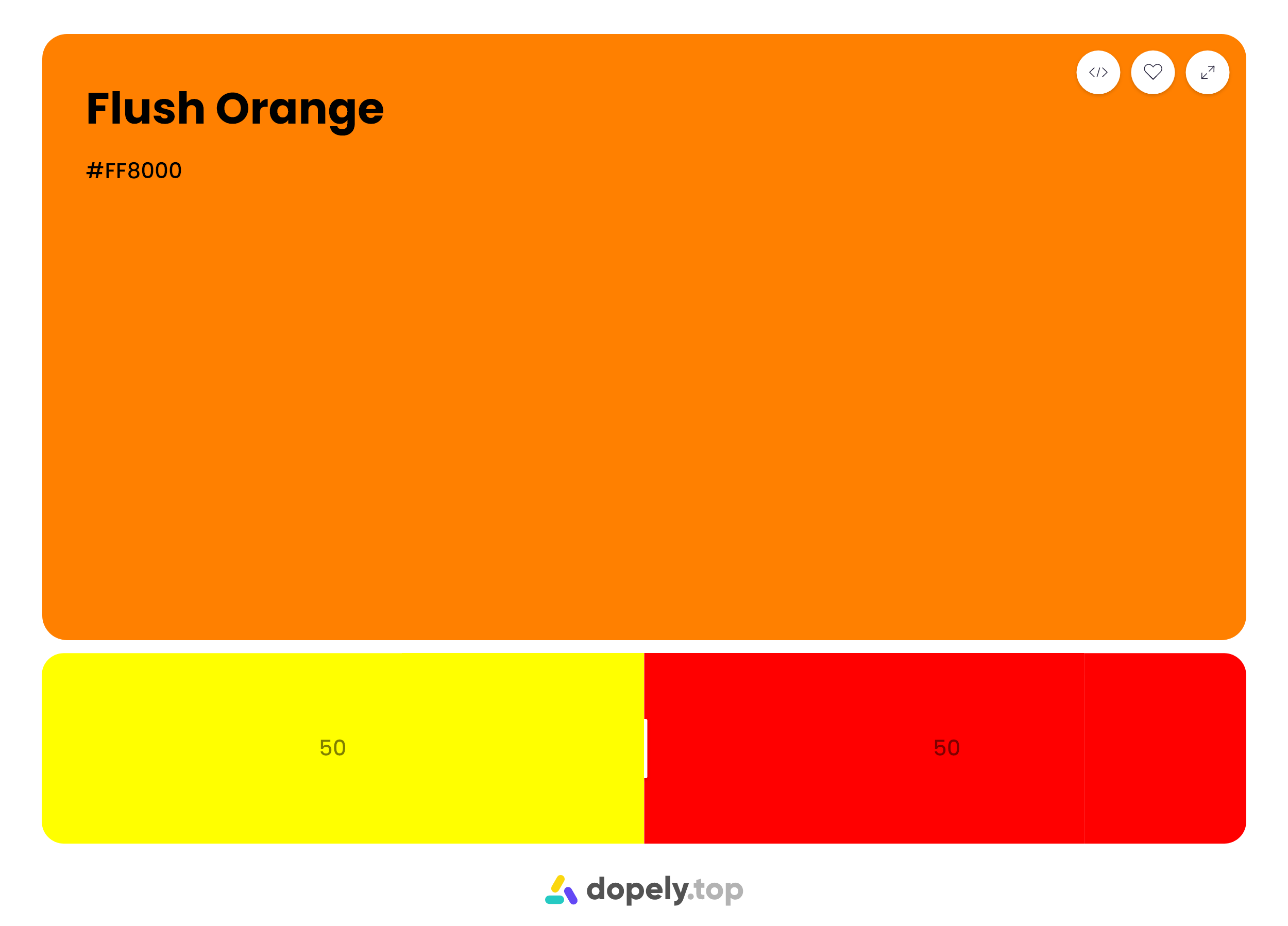 Mixing result of 50% red and 50% yellow is flush orange