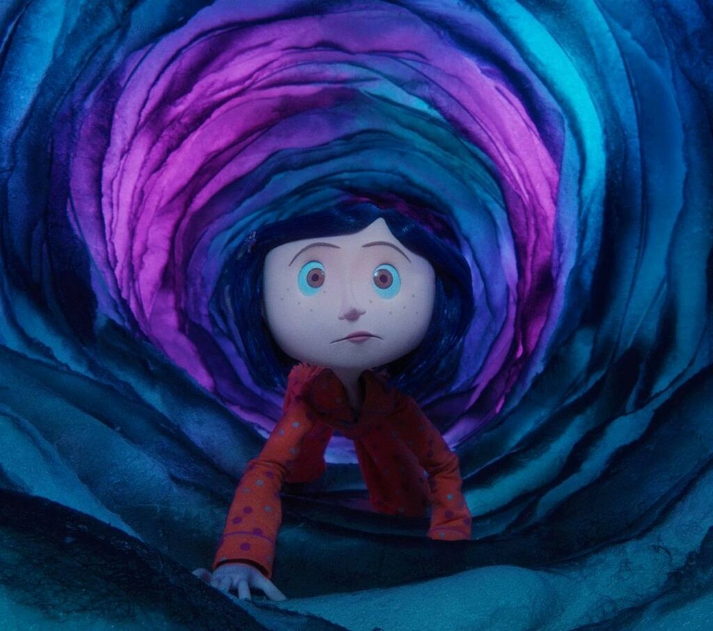 coraline in the valve of their house