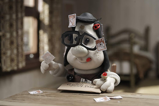 Mary is writing letters in her room in mary and max animation