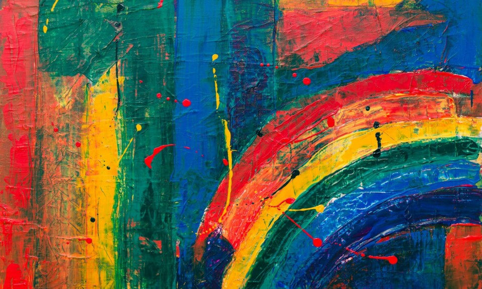 painting canvas full of color