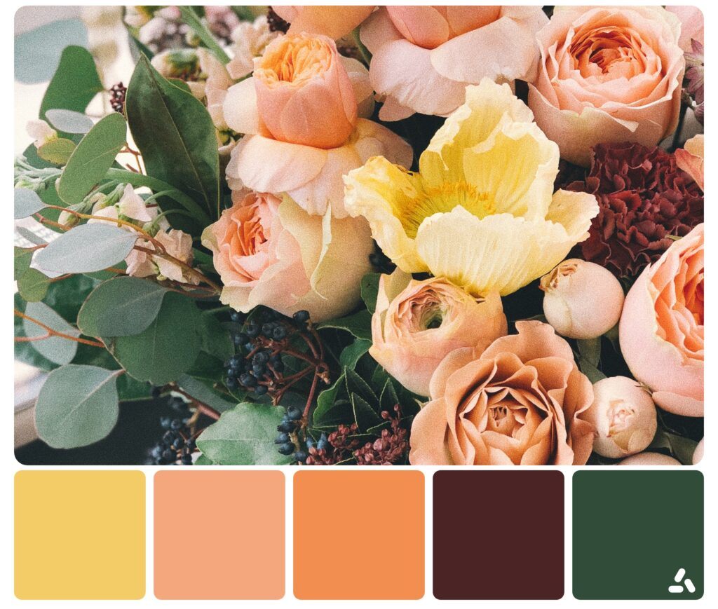 palette of flowers