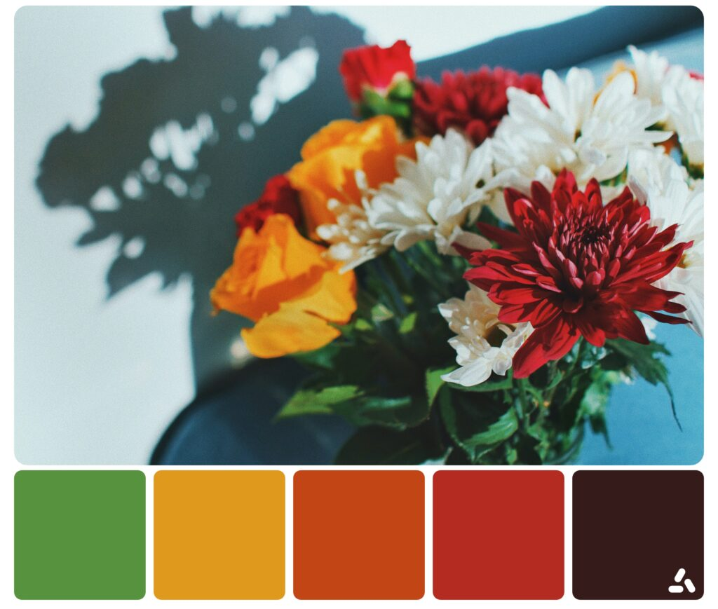 beautiful palette inspiration by colorful flowers
