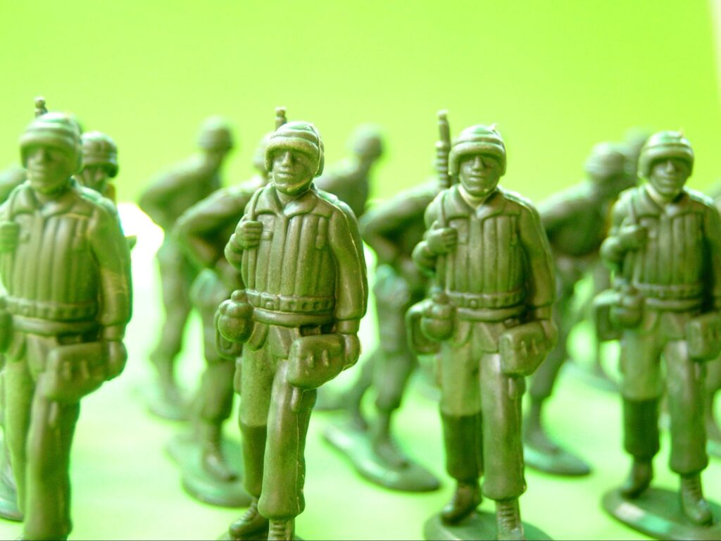 figure of soldiers
