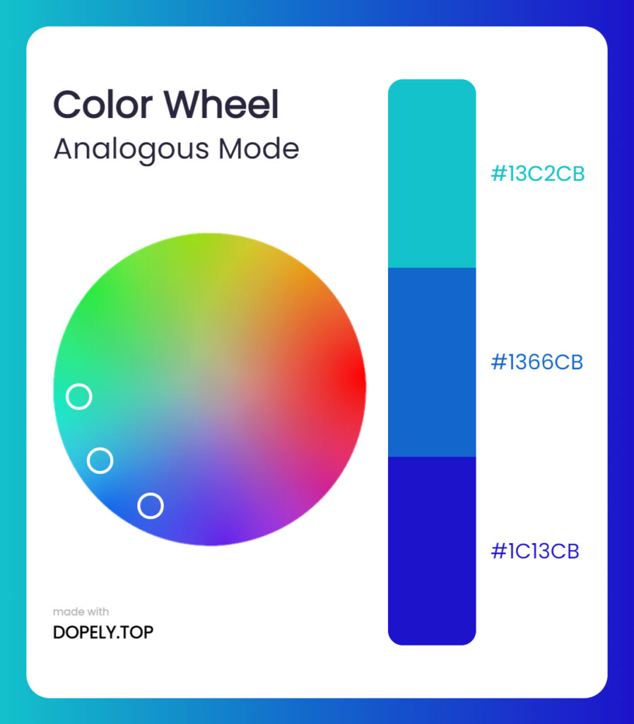analogous mode of color wheel