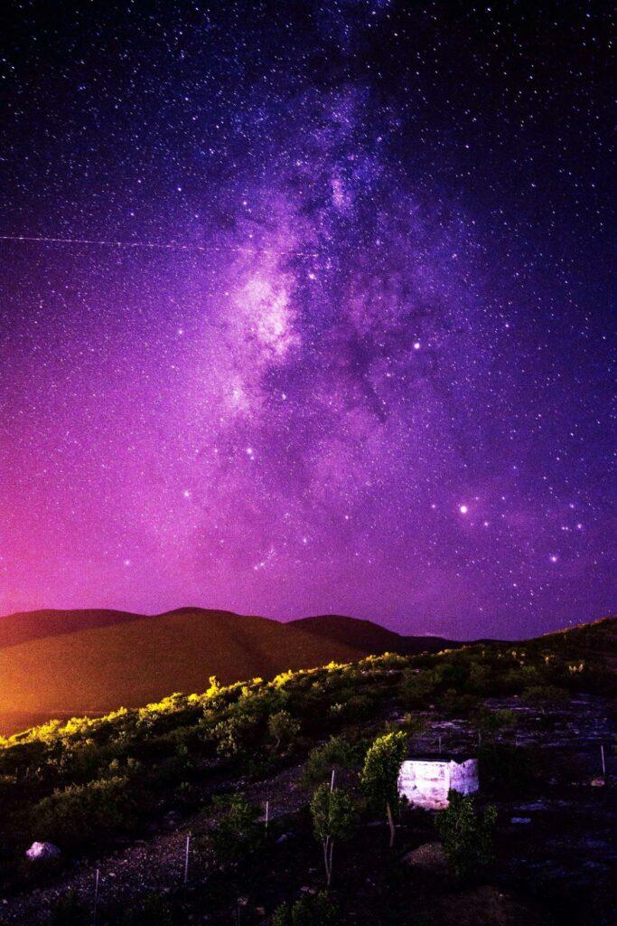 purple galaxy in the sky