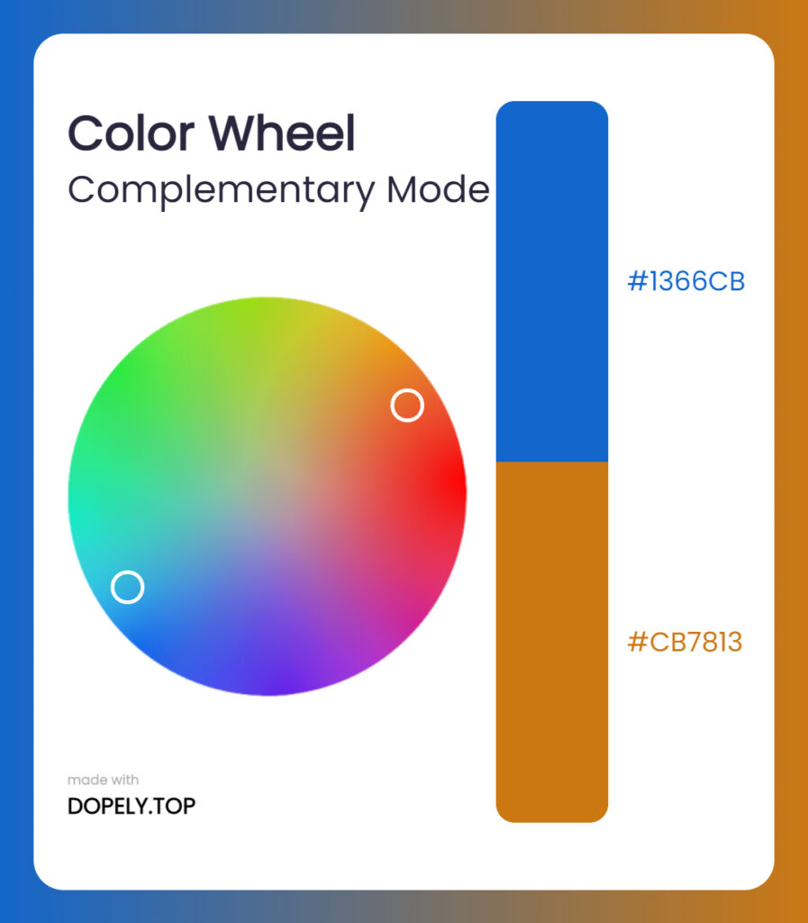 complementary mode of color wheel