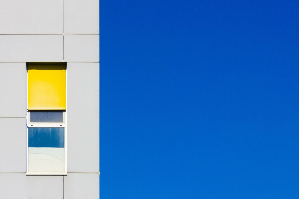 minimal color photography of an apartment