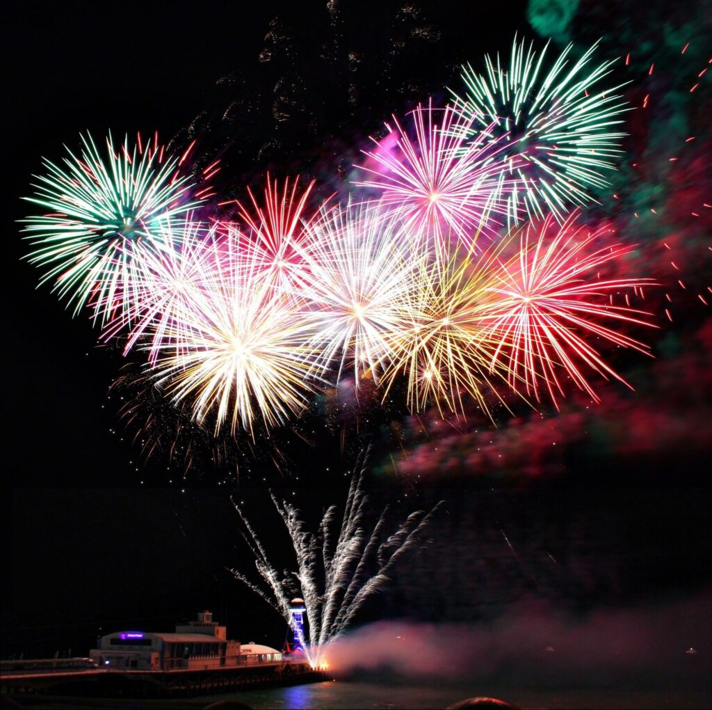 photograph of fireworks