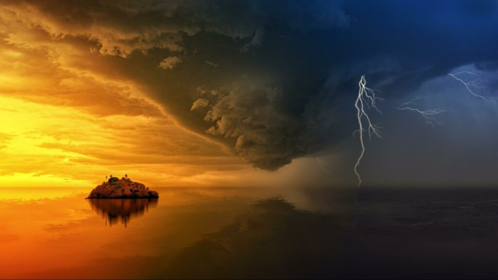 photography of stormy sea air