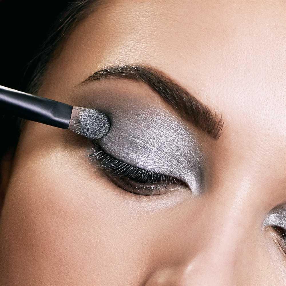 silver color eye shadow