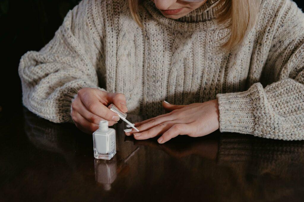 white color nail polish
