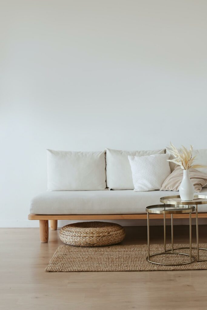 white color living room