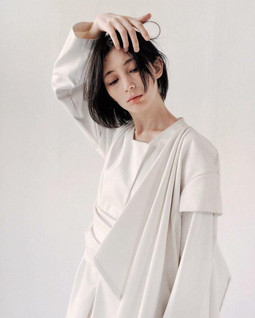 asian girl in white dress