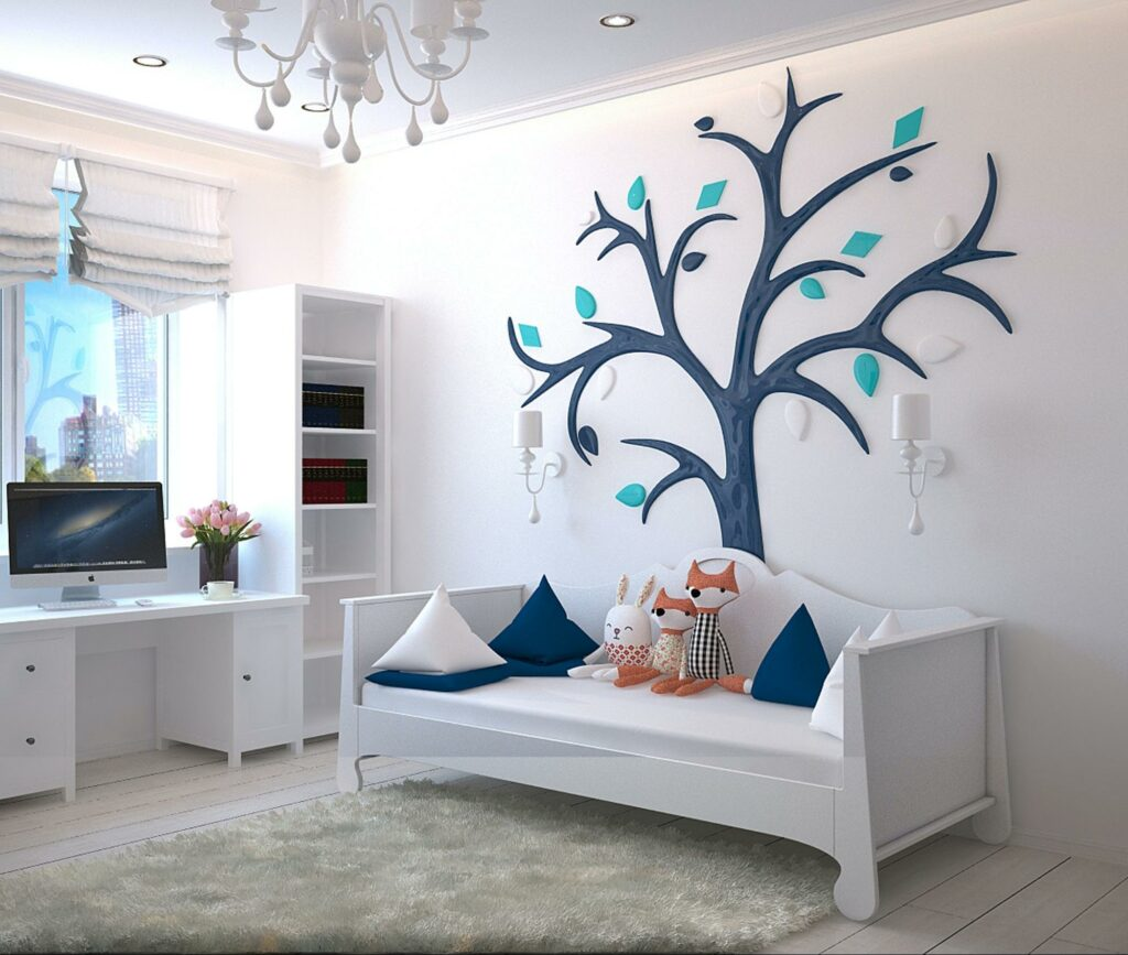white color with blue interior