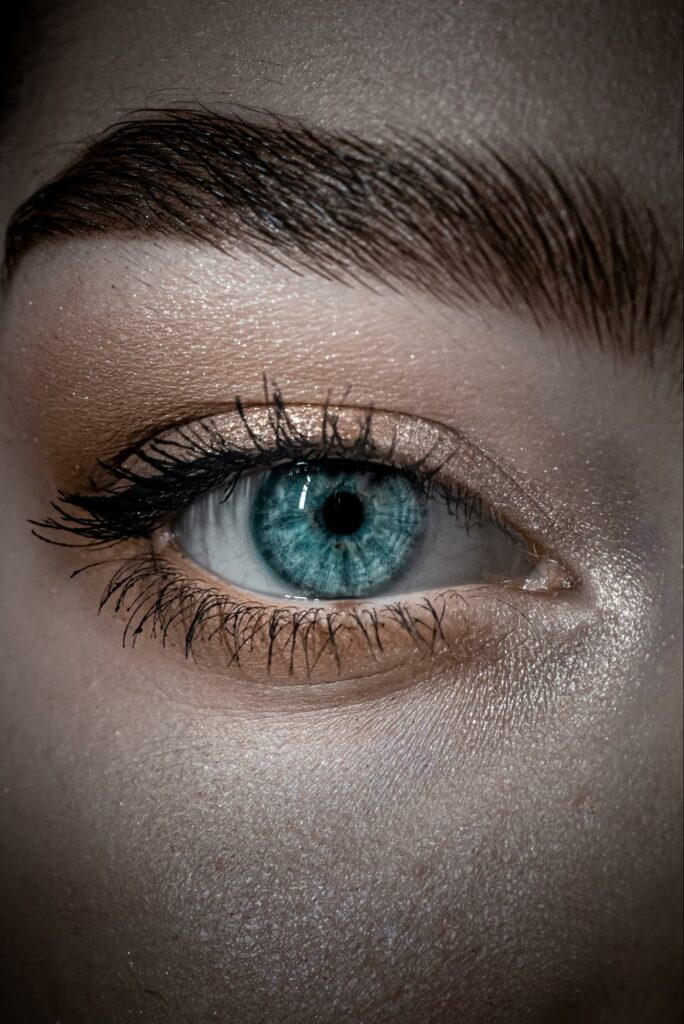 white color eyeshadow