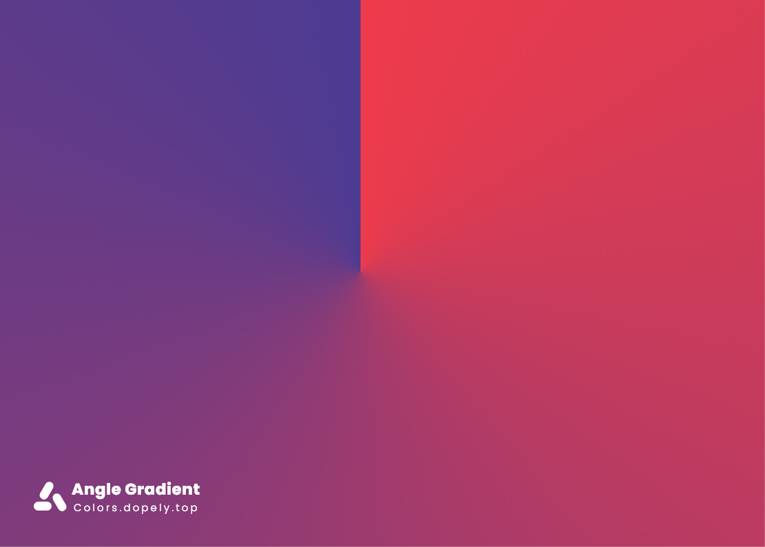 Angle color gradients of blue and red